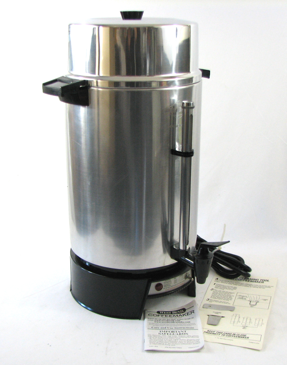 West Bend Coffee Maker Percolator : West Bend 33600 Commercial High Volume Coffee Maker 100 Cup Coffee Percolator eBay